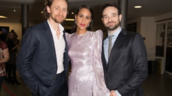 Tom Hiddleston, Zawe Ashton and Charlie Cox celebrate the opening night of Jamie Lloyd's production of Betrayal