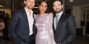 Tom Hiddleston, Zawe Ashton and Charlie Cox celebrate the opening night of Jamie Lloyd's production of Betrayal